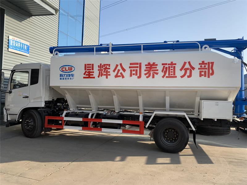 程力散装饲料车 东风天锦22方10吨散装饲料车厂家直销