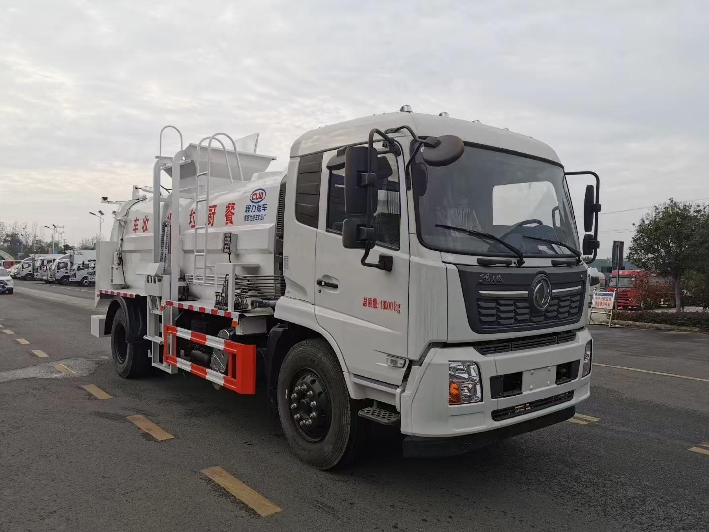 12方东风天锦餐厨垃圾车210马力价格厂家图片