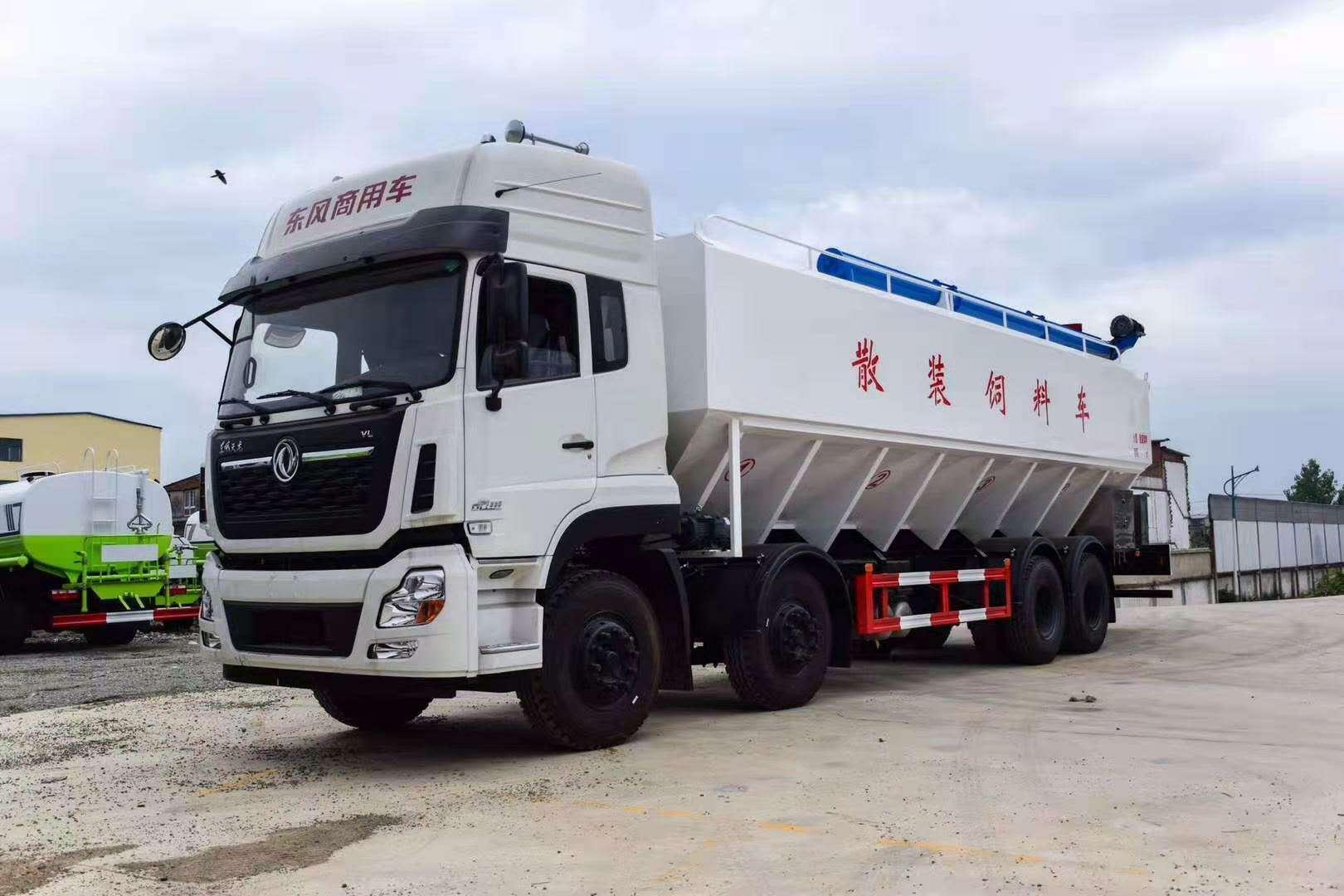 东风天龙前四后八20吨散装饲料车价格