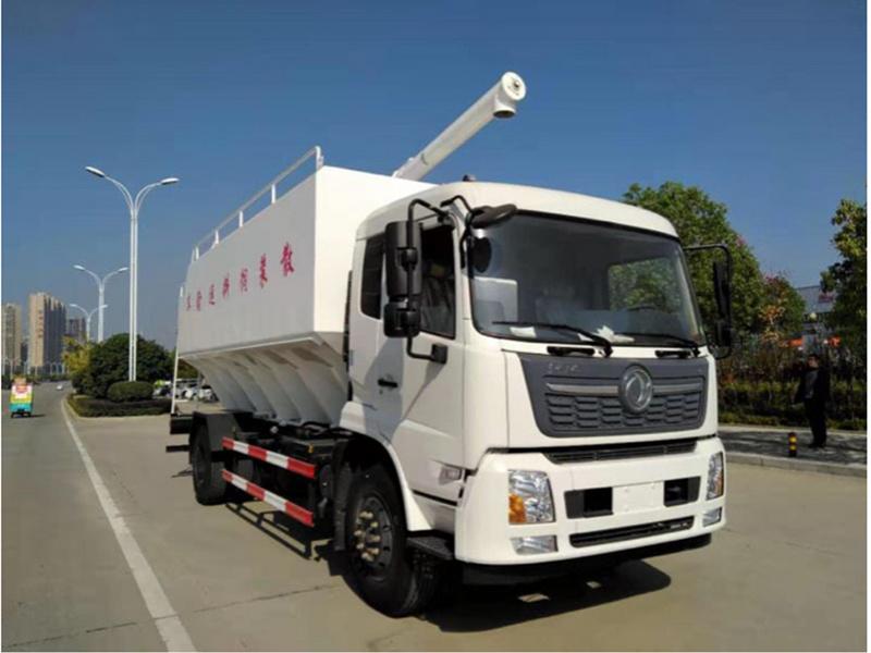 12吨散装饲料运输车厂家图片配置介绍