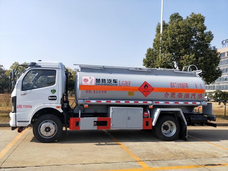 楚胜牌国六8吨加油车厂家 东风凯普特8.5方加油车参数视频视频