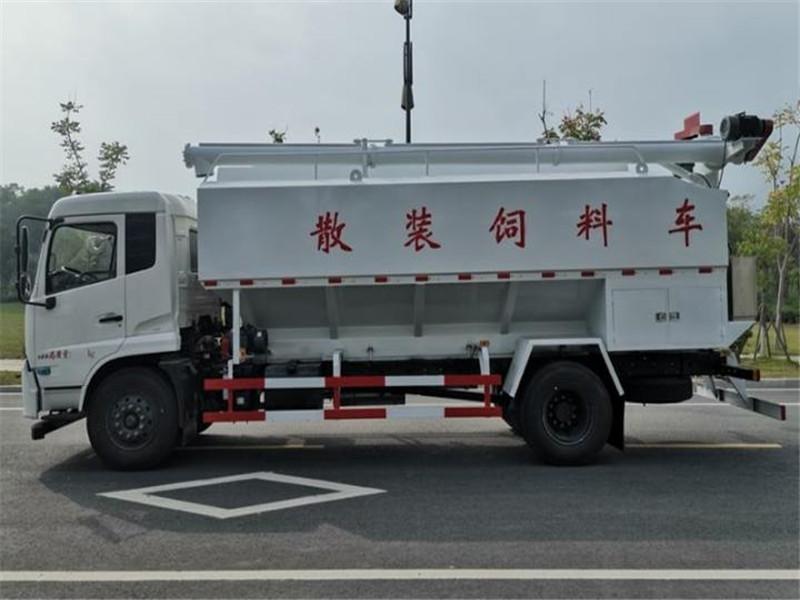 东风天锦10吨散装饲料车报价-散装饲料车厂家