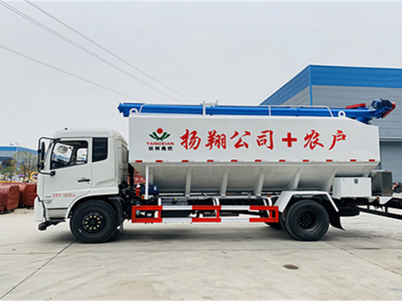 东风天锦10吨散装饲料车多少钱-散装饲料车厂家促销