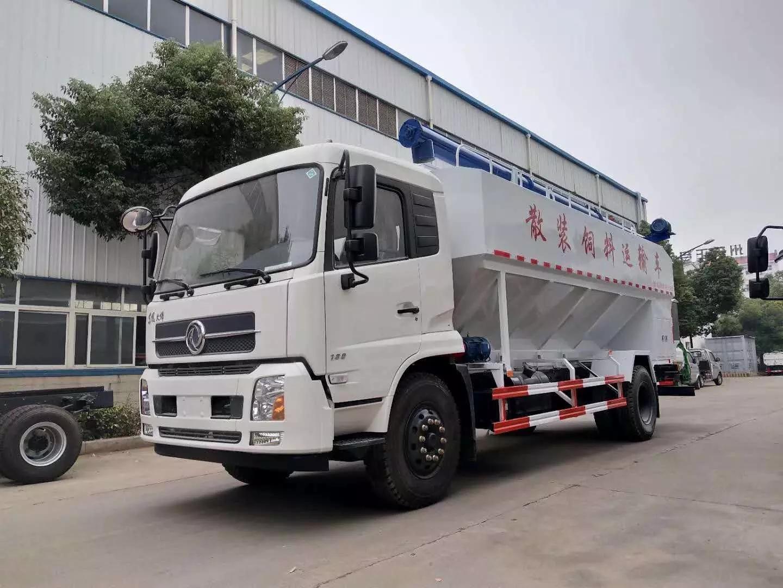 东风10吨散装饲料运输车厂家|价格|配置