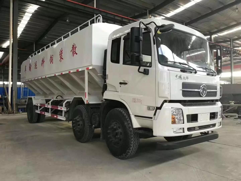东风15吨散装饲料运输车厂家|报价|配置