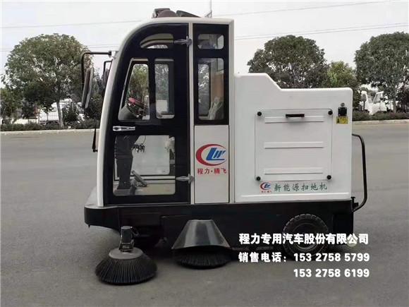 新能源CL2000C型三轮扫地机清扫车间、爬坡清扫作业图片