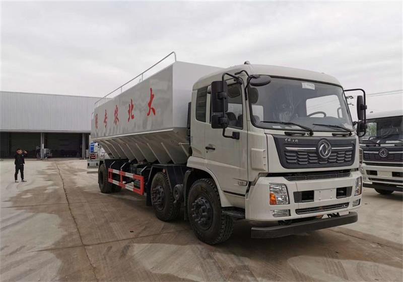 东风15吨散装饲料车厂家|报价|价格-散装饲料车多少钱