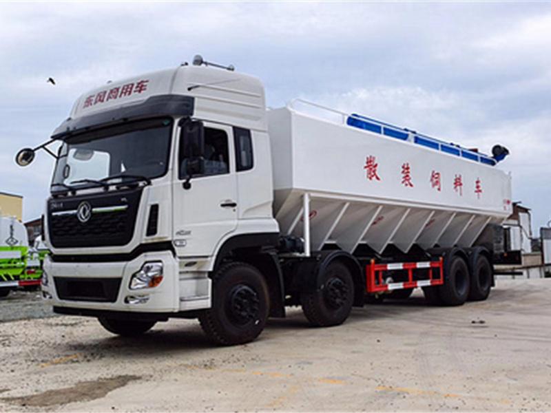 东风天龙前四后八20吨散装饲料车多少钱一辆?散装饲料车工厂特价促销