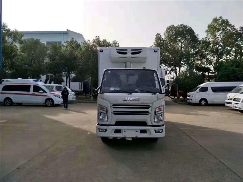 江铃蓝牌4.2米冷藏车多少钱一台?图片