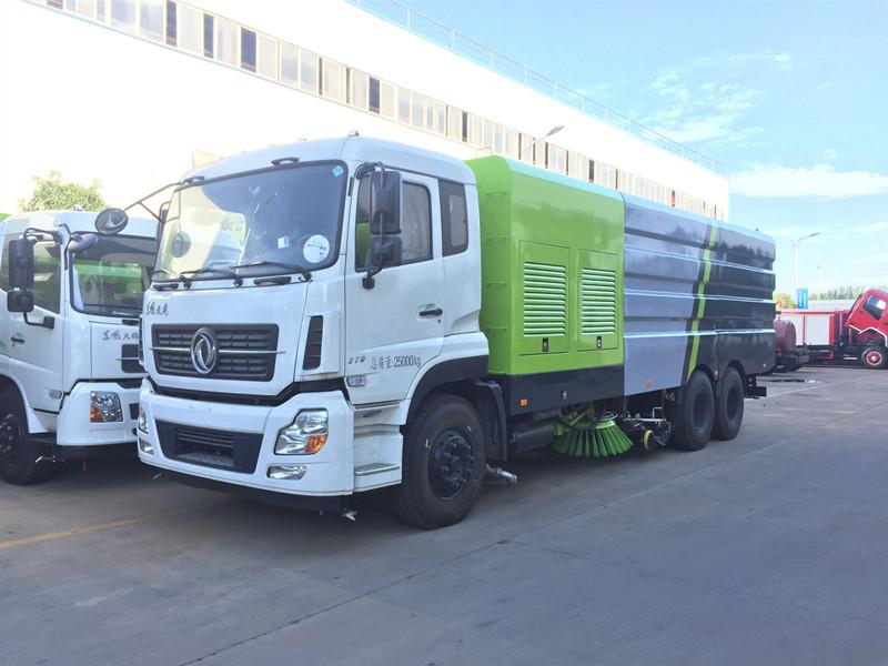东风天锦16吨洗扫车视频