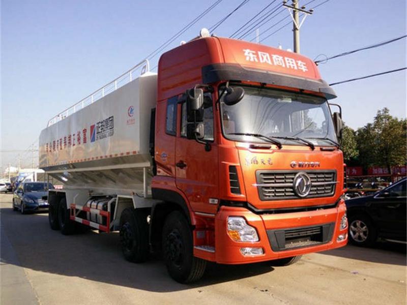 东风天龙前四后八40方(20吨)散装饲料运输
