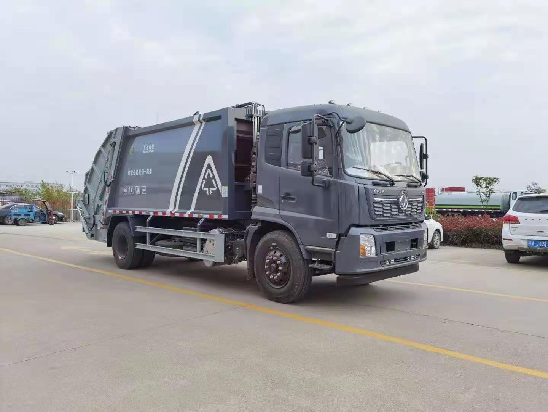 国六东风D9    12方压缩垃圾车视频