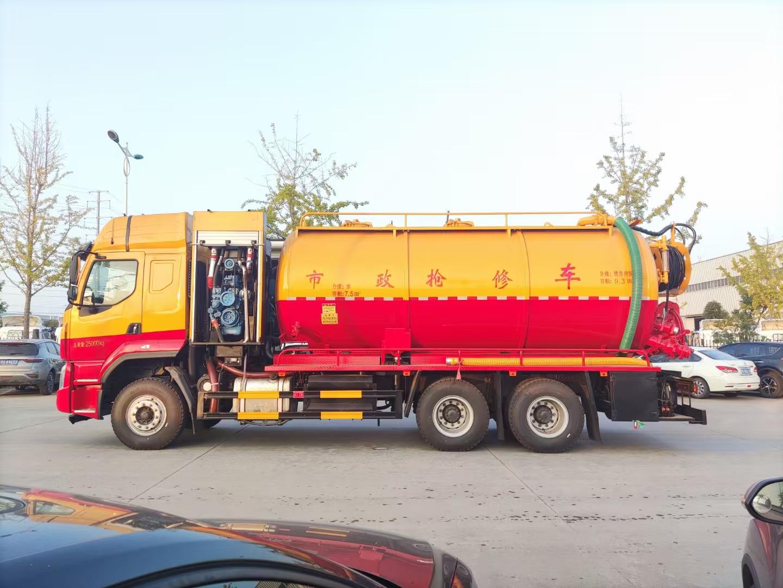 柳汽国六6x4玉柴350马力20方清洗吸污车图片