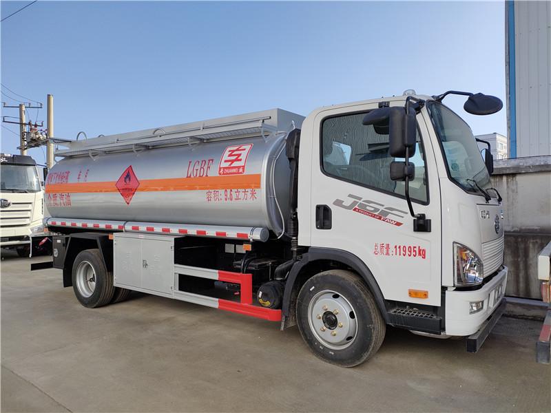 青島解放J6F汽油9.6方高頻彩開獎導航 國六8噸油罐車
