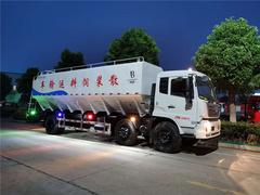 15吨东风天锦小三轴散装饲料车图片及配置
