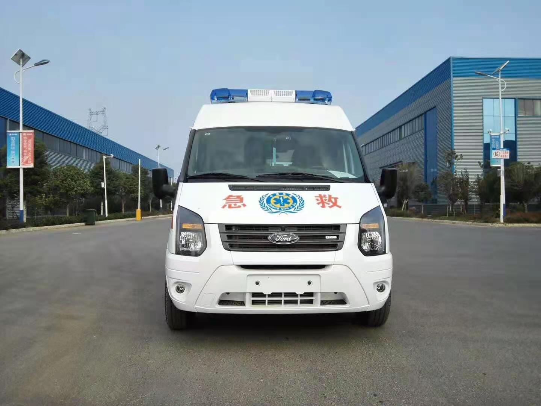 国六福特V348短轴中顶监护型救护车