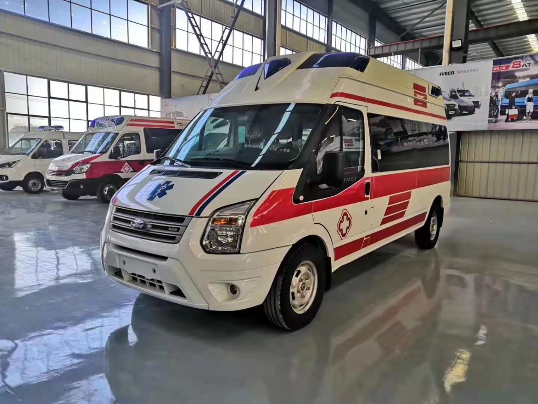 国六福特V348长轴高顶客运版负压救护车