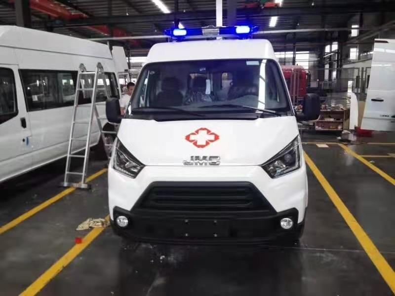 国六江铃福特全顺短轴中顶客运版负压监护型救护车