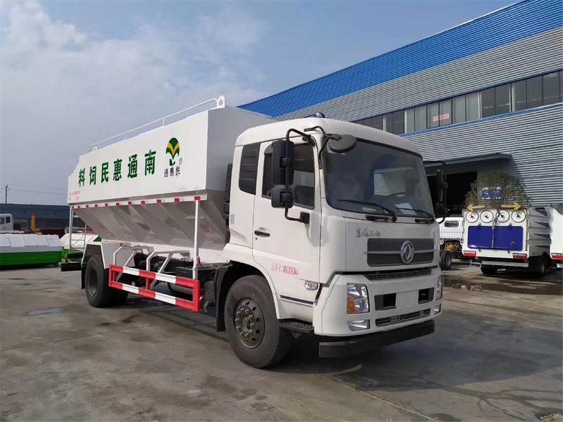 东风锦10吨(20方)散装饲料运输车厂家报价 10吨散装饲料运输车在哪里买