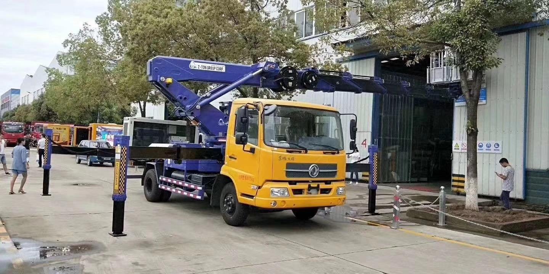 东风天锦国六30米进口伸缩臂高空作业车配置报价视频