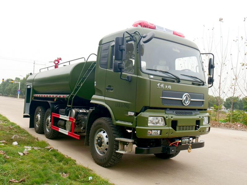 国六-六驱越野消防洒水车-绿化喷洒车