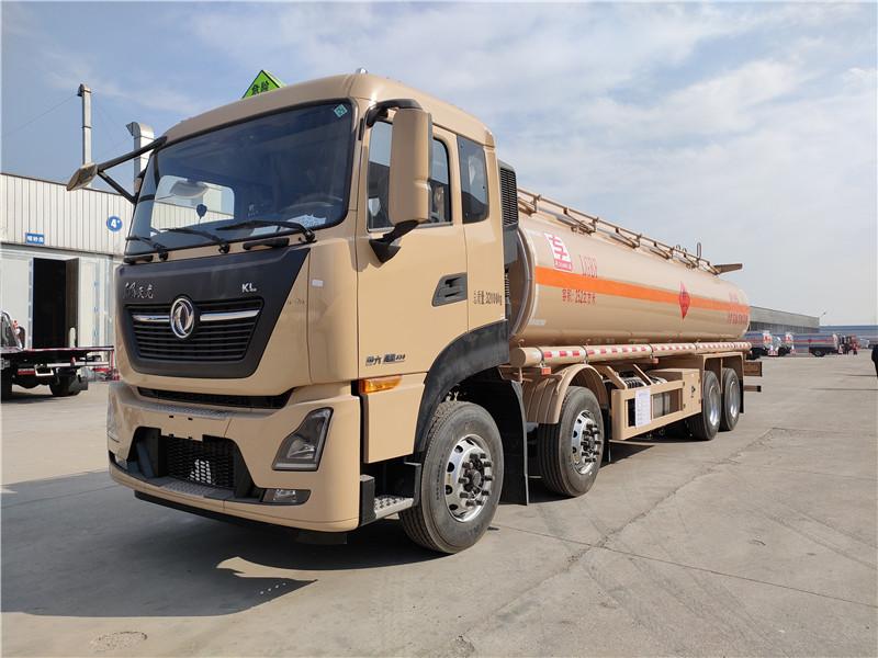 2021新款国六东风天龙前四后八25吨铝合金运油车报价视频视频