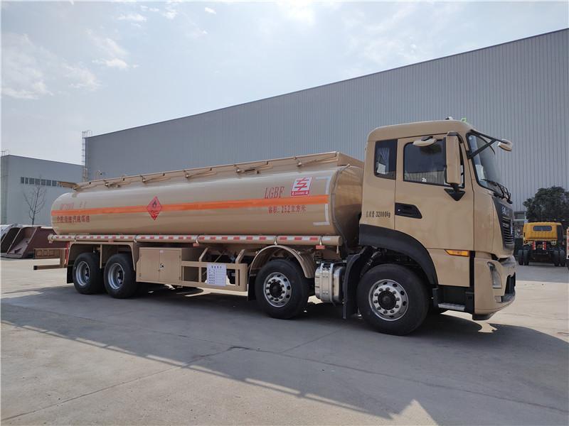 国六东风天龙25.2方铝合金运油车批发20吨油罐车厂家视频视频