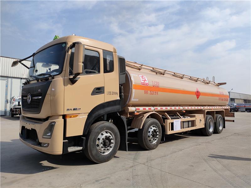 专威牌20吨油罐车厂家 国六东风天龙25.2方铝合金运油车