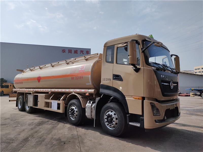 25.2方国六东风天龙铝合金油罐车厂家 核载20吨运油车价格