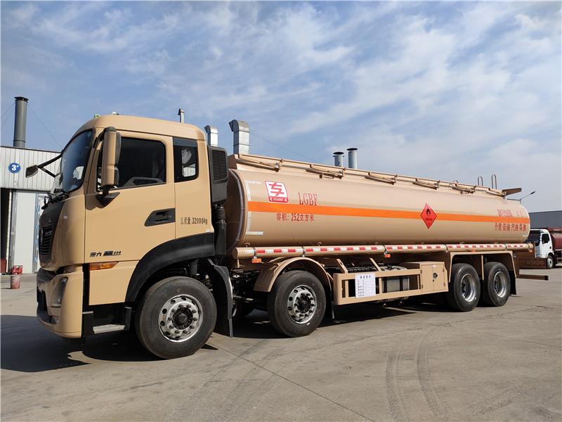 标载20吨油罐车厂家促销 国六东风天龙四轴25.2方铝合金运油车