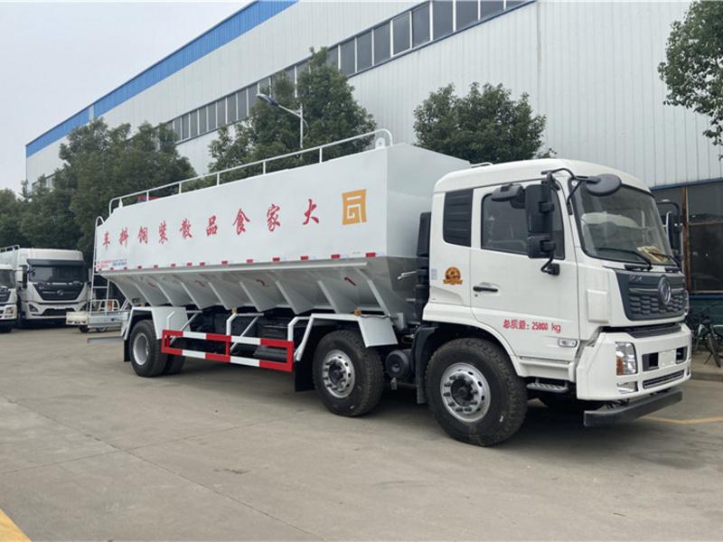东风天锦小三轴15吨饲料车多少钱