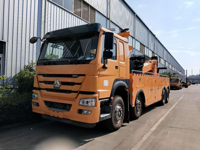 30吨重汽豪沃拖车价格图片重型道路救援清障车图片