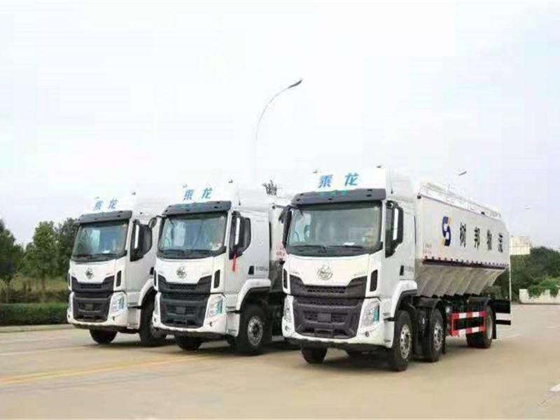 树邦物流订购15吨散装饲料车小三轴30方散装饲料车