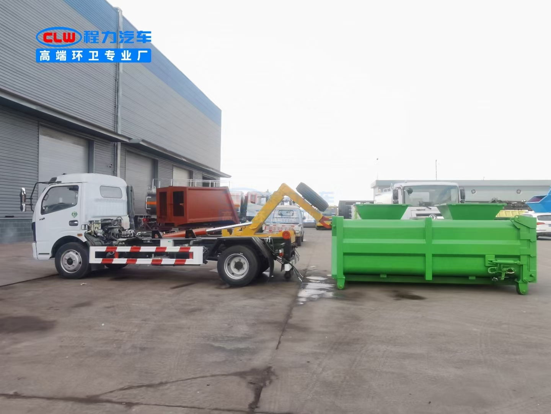 国六D7钩臂式垃圾车厂家直销图片