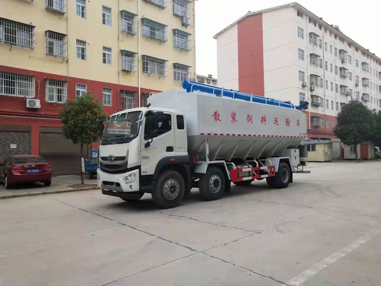 国六福田前四后四15吨散装饲料车报价 配置 价格 厂家图片