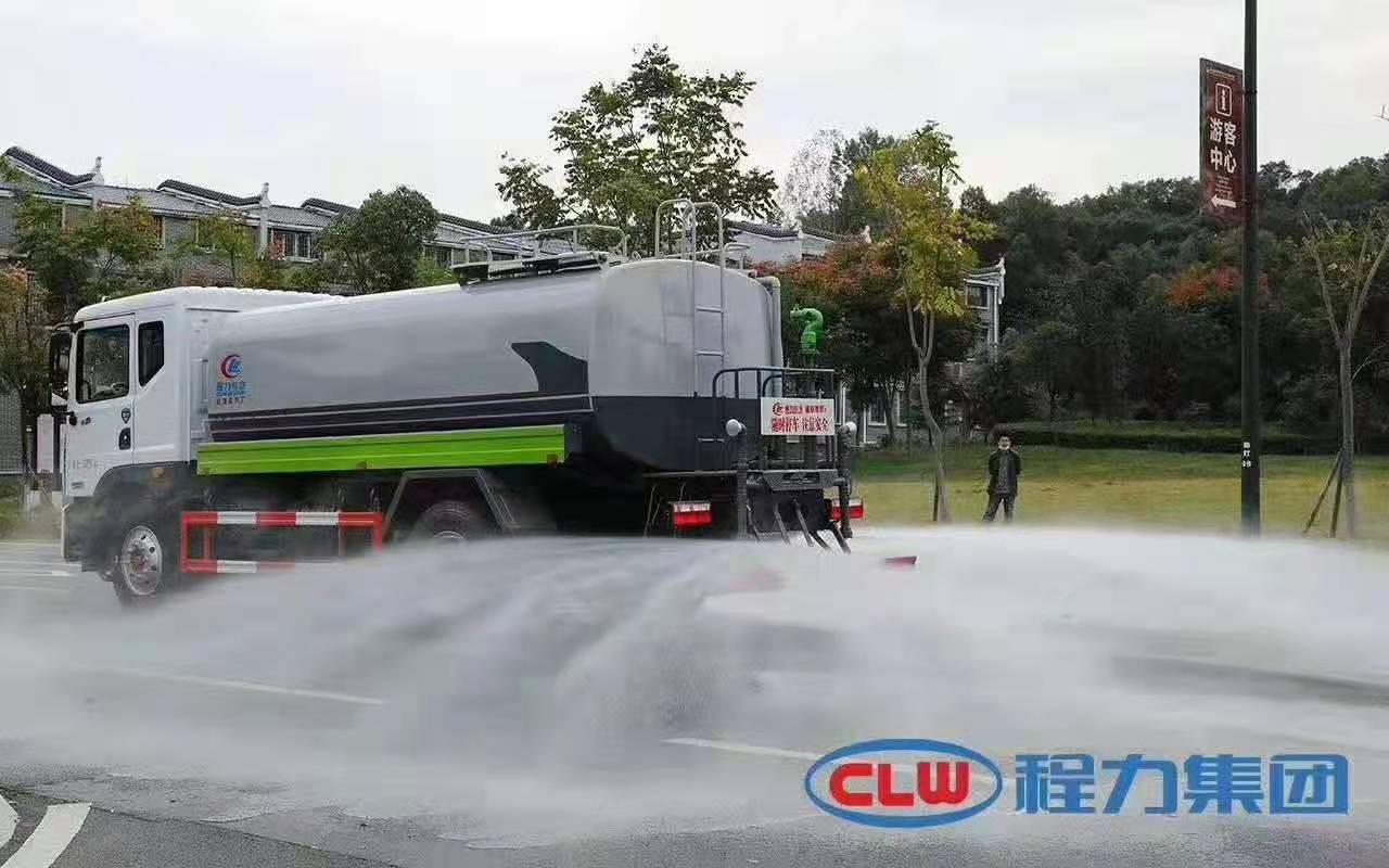 东风12方洒水车用车视频图片