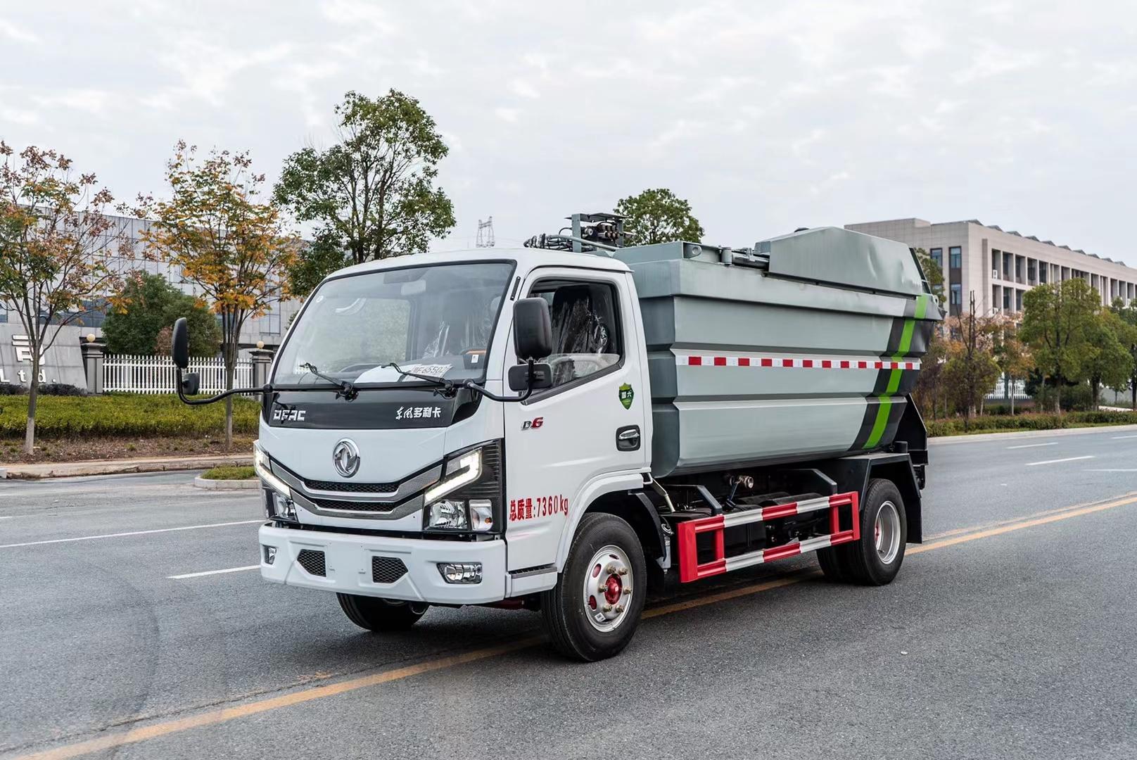 国六东风多利卡无泄漏垃圾车
