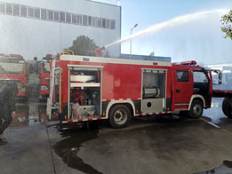 热烈祝贺郑州金水区消防大队25台消防车圆满交车视频