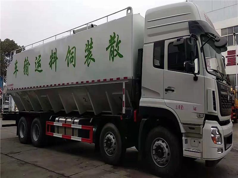 40方散装饲料车东风天龙饲料车价格