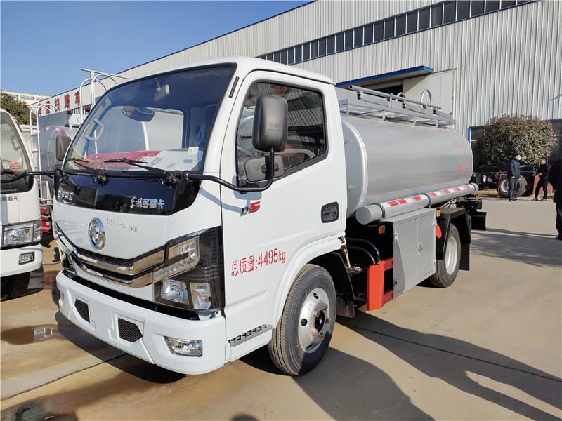 蓝牌油罐车 能装4吨柴油 C证可以开的4吨蓝牌供液车 视频视频