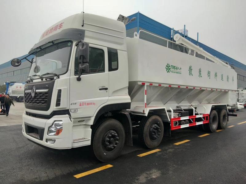 20吨散装饲料车价格表 散装饲料运输车厂家报价