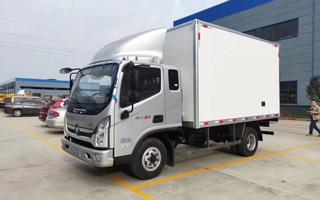 国六福田奥铃速运一排半4.2米冷藏车图片