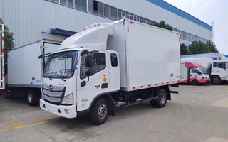 国六福田欧马可S1排半冷藏车4.2米图片