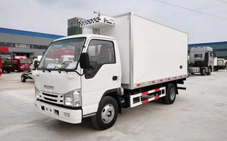 国六庆铃五十铃100P冷藏车4.2米图片