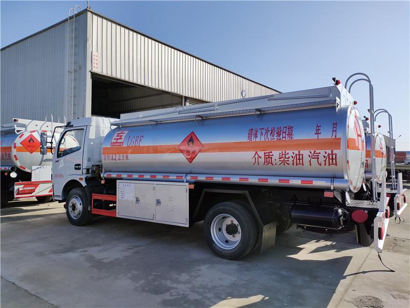 上好户东风福瑞卡8.2方油罐车柴汽油双介质8吨加油车视频视频