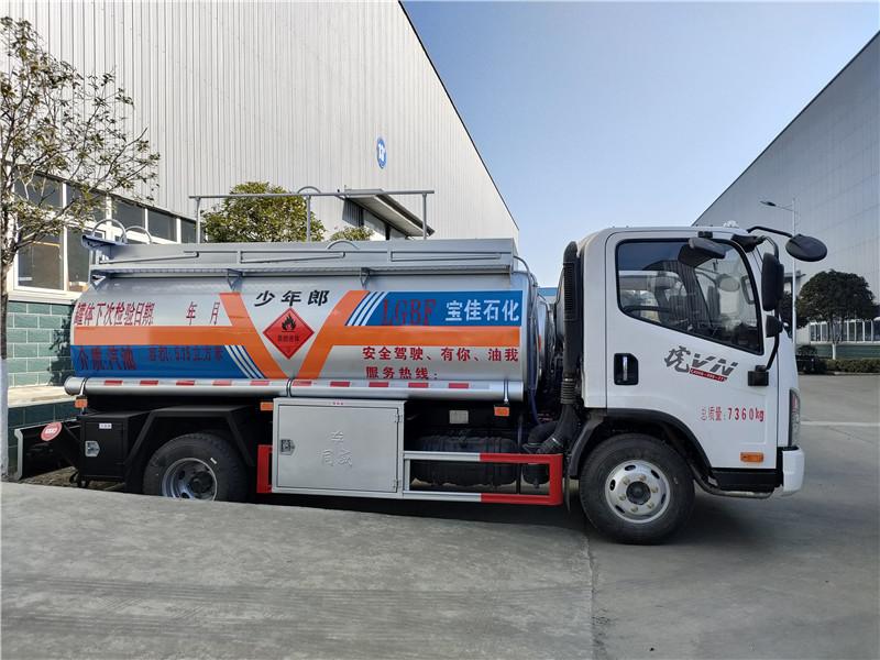 一线加油车 小型油罐车解放5吨油罐车厂家现货供应 视频视频