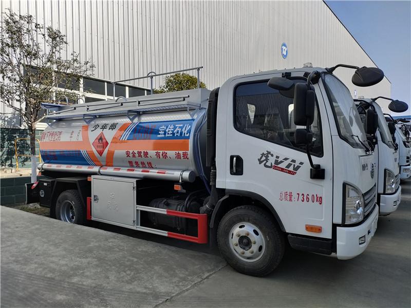 解放5吨油罐车厂家直销 物优价廉 一线加油车 图片视频
