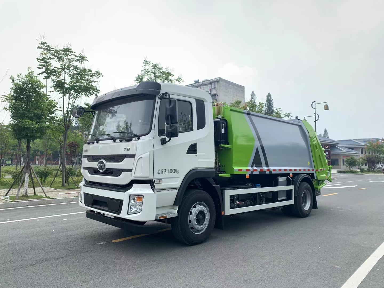 比亚迪T8纯电动压缩垃圾车厂家价格挂桶垃圾车图片图片