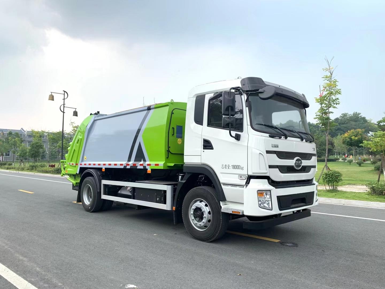 纯电动挂桶压缩垃圾车厂家图片配240L桶使用图片