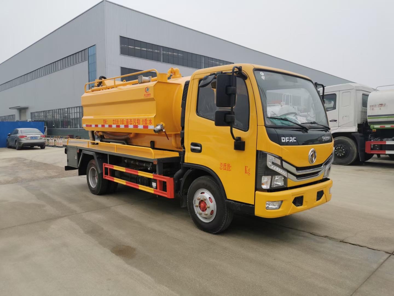 东风清洗车吸污车厂家最新图片工程黄颜色图片